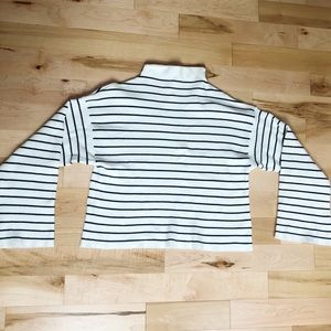 Top shop striped mock neck sweater